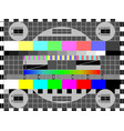 television test card or pattern vector image vector image