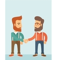 Two men handshaking vector image