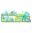 Urban Environment Banner with houses and roads vector image