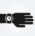 watch on hand punctuality concept vector image vector image
