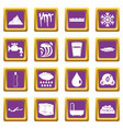 water icons set purple vector image vector image