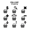 Web shopping icons vector image