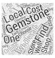 wholesale gemstones Word Cloud Concept vector image vector image