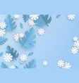 winter background with leaves and snowflake vector image vector image