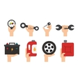 Car Maintenance service Automechanic tools and vector image