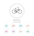Bicycle Clean thin line style sport icon set vector image