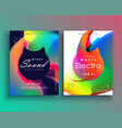 creative vibrant music flyer poster template vector image