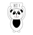 Funny panda bear children animal for book t-shirt vector image