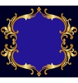 Royal golden frame vector image