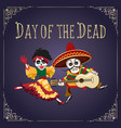 day of the dead mexican holiday poster vector image