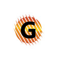 technology letter g vector image