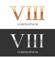 8 VIII Luxury Gold and Silver Roman numerals vector image vector image
