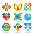 abstract icons set geometric icons for design vector image vector image