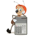 Ant superintendent shows on calculator vector image vector image