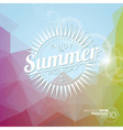 background on a summer holiday theme vector image