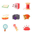 best hobby icons set cartoon style vector image vector image