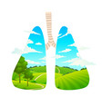 breathe fresh air forest is lungs vector image vector image