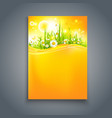 bright summer blank with flowers vector image vector image