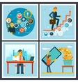 Businessman Characters Scenes Symbol icons on vector image