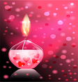 candle romance vector image