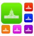 capitol set collection vector image vector image