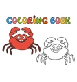 cartoon crab vector image vector image