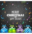 Christmas balls and confetti vector image vector image