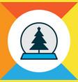 christmas toy icon colored line symbol premium vector image
