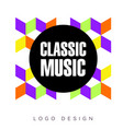 classic festival logo template creative banner vector image vector image