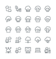 Cloud Computing Cool Icons 1 vector image vector image