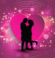 Couple on a heart background vector image vector image