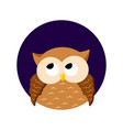 cute cartoon owl on a white background vector image vector image