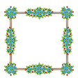 daisy flowers color square frame vector image vector image