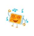 Dancing Little Robot Character vector image vector image