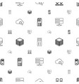 database icons pattern seamless white background vector image vector image