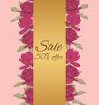 discount sale flyer peonies vector image vector image