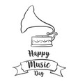 doodle of music day celebration vector image vector image