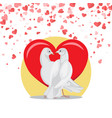 doves symbol love valentine postcard with birds vector image