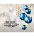 Elegant Classic Christmas Background vector image