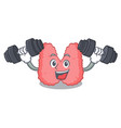 fitness thyroid character cartoon style vector image