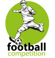 football symbol vector image vector image