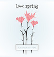 geometric polygonal spring flowers template vector image vector image
