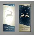 Greeting cards with reindeer vector image