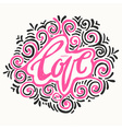 Happy love concept inspirational hand lettering vector image