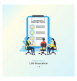 life insurance registration vector image vector image