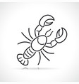 lobster or seafood line vector image vector image