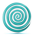 lollipop isolated blue round sweet candy vector image
