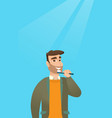 man brushing teeth vector image vector image