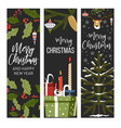 merry christmas and happy new year winter holiday vector image vector image