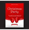 Merry Christmas invitation card tag banner vector image vector image